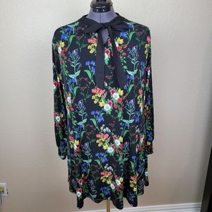 Simply Be Bright Floral on Black Knit Dress US22